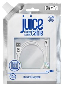 Juice Micro USB to USB Cable 1.5M White
