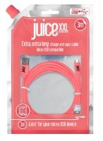 Juice Micro USB to USB XXL Cable - Coral - 3M
