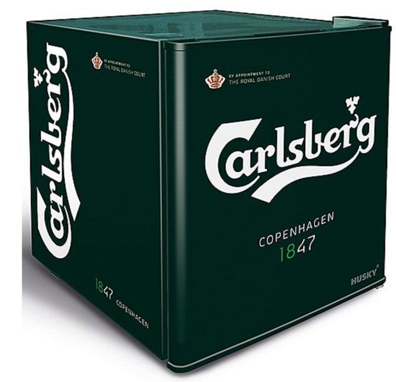 Husky Carlsberg mini fridge