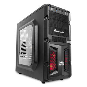 PC Specialist Vanquish Sidewinder NVIDIA GTX 1050 2GB Gaming PC, AMD Quad Core FX 4300 3.8GHz, 8GB RAM, 1TB HDD, Windows 10 Home