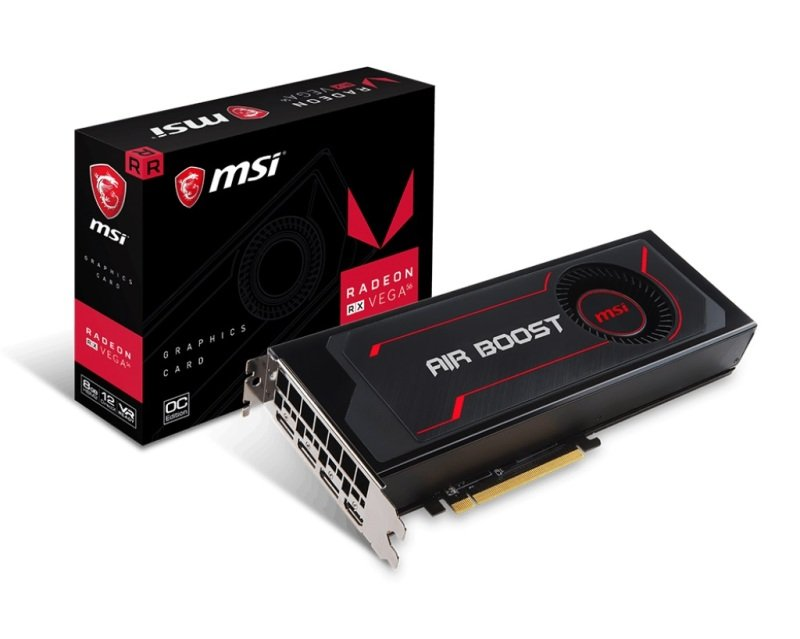 MSI Radeon RX Vega 56 Air Boost 8GB OC HBM2 Graphics Card