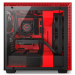 NZXT H700i Mid Tower Case - Black/Red