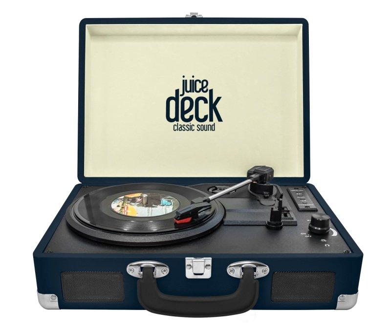 Juice Portable Vinyl Record Player Turntable - Blue