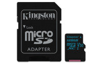 Kingston Canvas Go 128GB Micro SD Card with Adapter