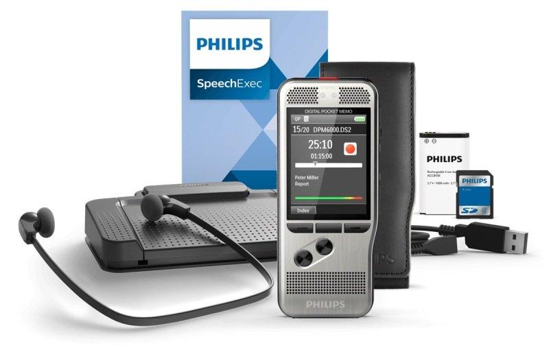 Phillips Pocket Memo DPM6700 Dictation and Transcription Set
