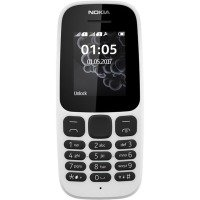 Nokia 105 1.8-Inch Single Sim Feature Phone - White