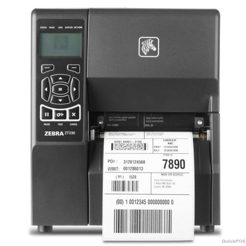 Zebra ZT230 DT Printer - 203dpi - Wireless LAN - USB - Serial