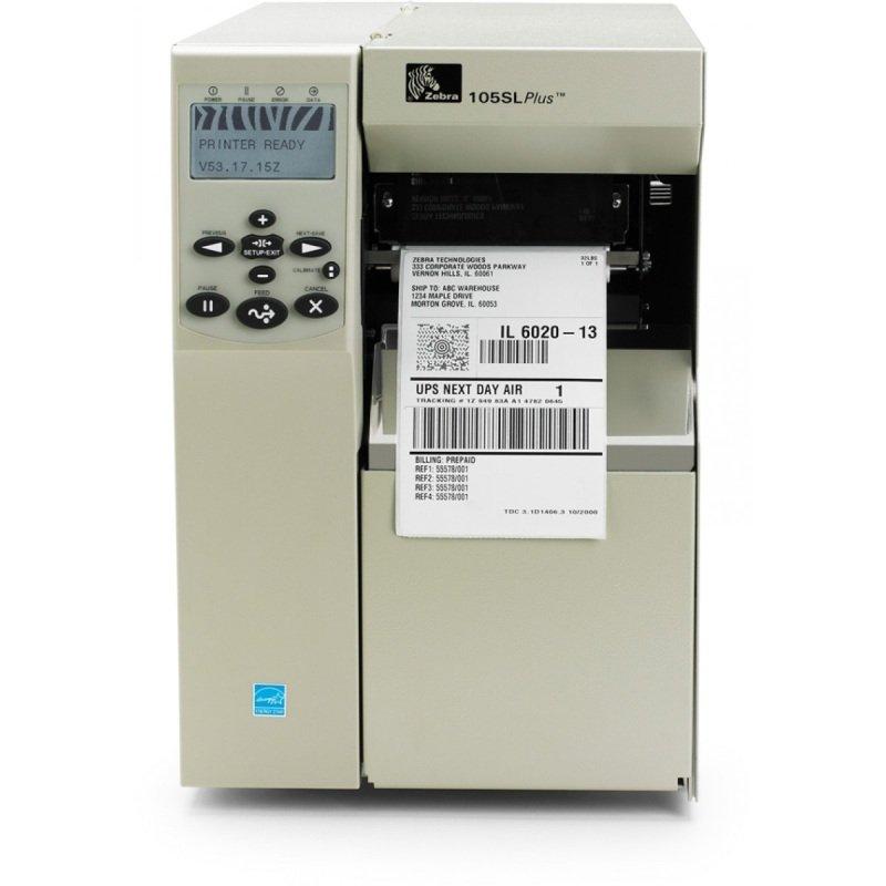 Zebra 105SLPlus DT/TT Printer - 203dpi - USB - Serial - Parallel - Ethernet