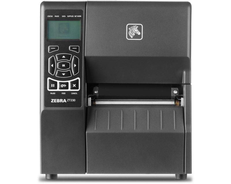 Zebra ZT230 Thermal Transfer Printer - 203dpi - Wireless LAN - USB - Serial