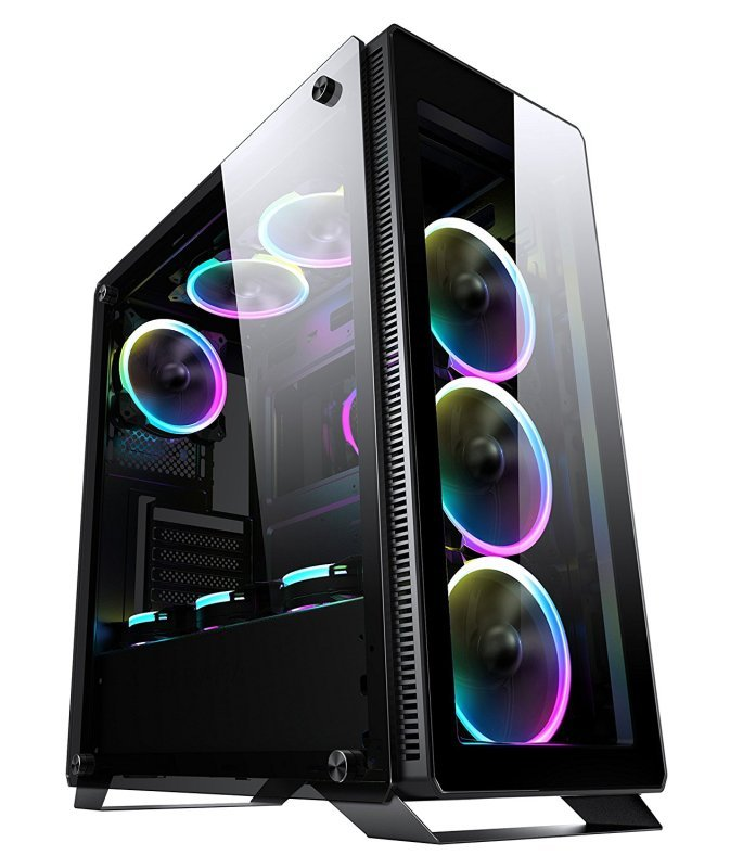 Sahara P35 Mid Tower Black Case with 4 Pirate Turbo RGB Fans
