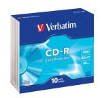 Verbatim 52x 700MB CD-R - 10 Pack Slim Jewel Case