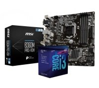 B360M PRO-VDH Motherboard + i3-8100 Processor Bundle