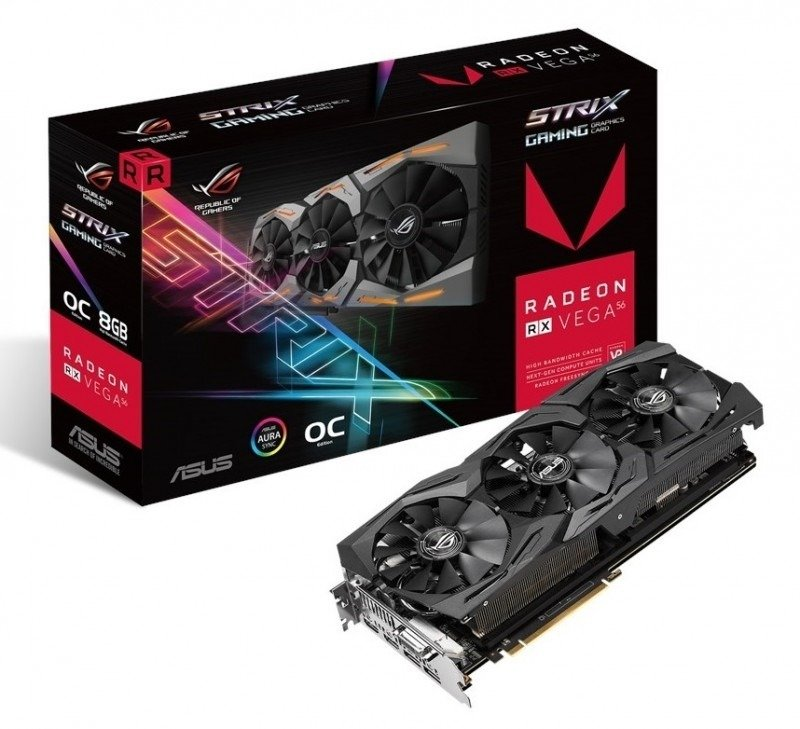 Asus ROG STRIX RX VEGA 56 8GB OC HBM2 Graphics Card