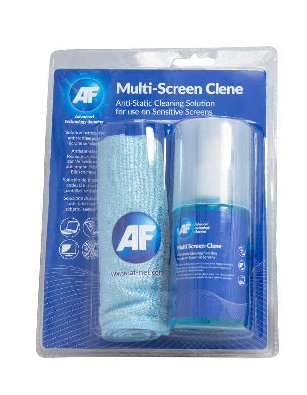 Compare prices for AF International Multi-Screen Clene With Large Micro-Fibre Cloth AMCA_200LMF