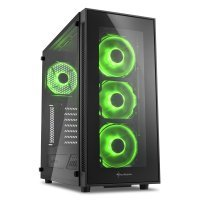 Sharkoon TG5 Glass ATX Tower Case - Green