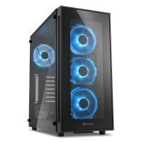 Sharkoon TG5 Glass ATX Mid Tower Case - Blue