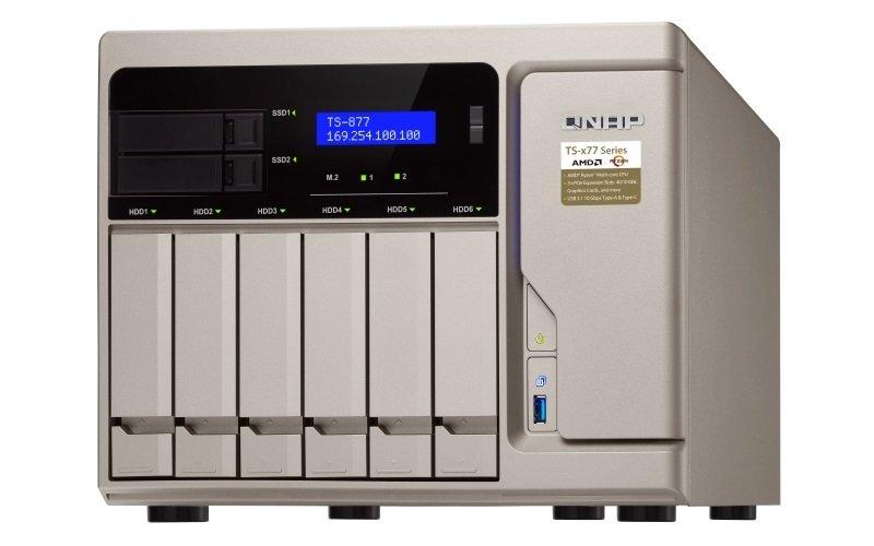 QNAP TS-877-1700-16G 8 Bay Desktop NAS Enclosure with 16GB RAM