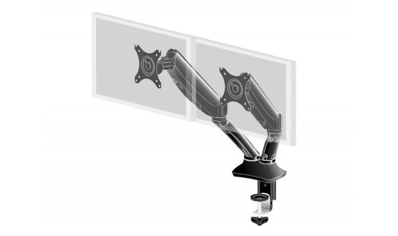 Image of DS3002C-B1+Flexible Desk Mount Dual