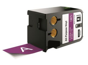 DYMO XTL All-Purpose Vinyl White on Purple Labels (4.1 cm x 7.5 m)
