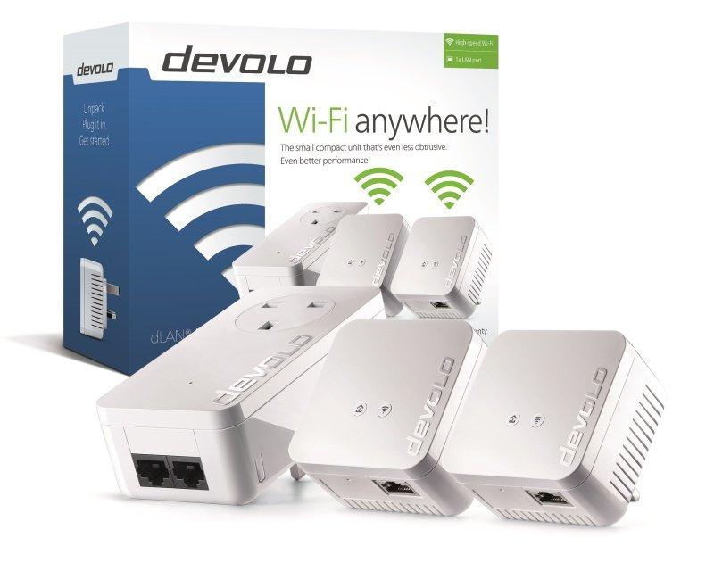 Devolo dLAN 550 Network Triple Powerline Adaptor Kit