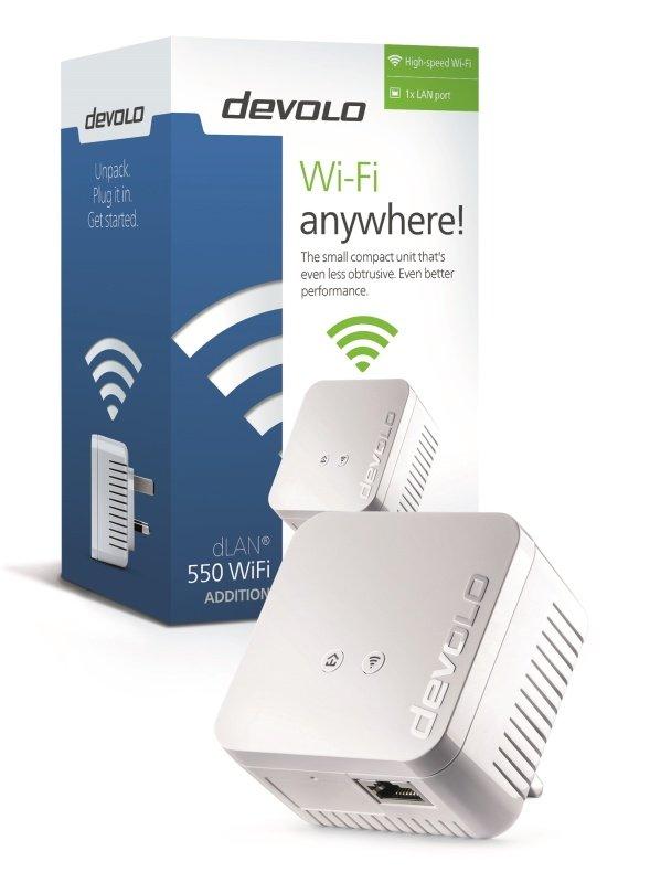 Devolo dLAN 550 Add-On WiFi Powerline Adapter