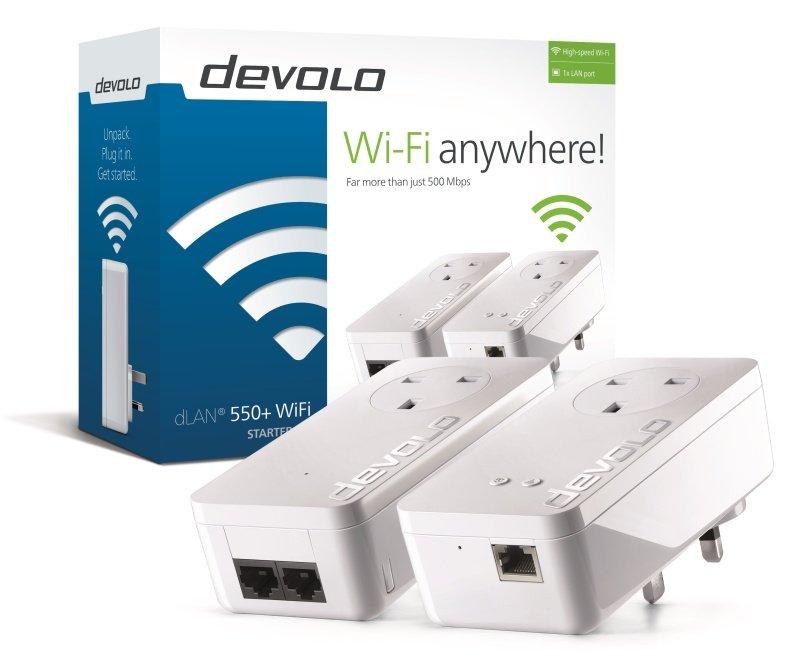 Image of Devolo 550 Plus dLAN Powerline Wifi Starter Kit