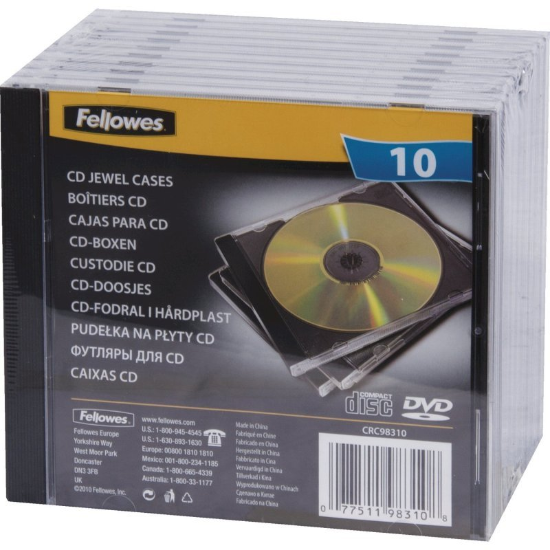CD Jewel Cases Black - 10 Pack