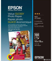Epson Value Glossy Photo Paper - 10 x 15cm - 100 Sheets