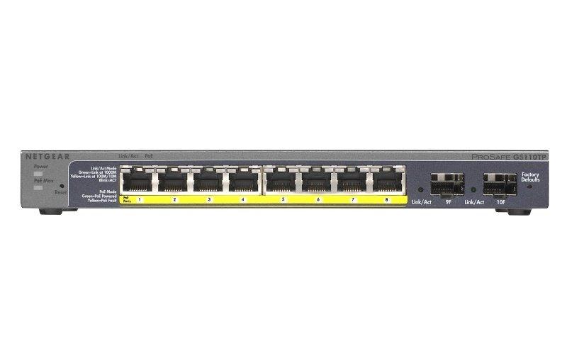 Netgear ProSafe 8x10/100/1000 SM GB Switch PoE - GS110TP-200EUS