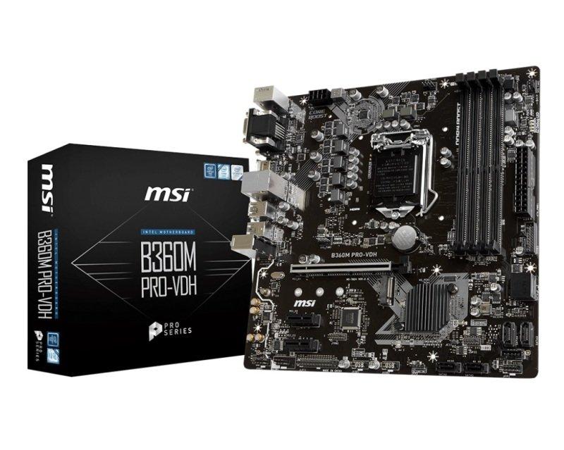 MSI B360M PRO-VDH LGA 1151 DDR4 mATX Motherboard