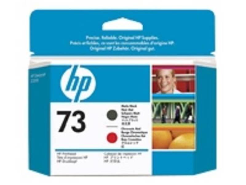 HP 73 Matte Black & Chromatic Red Printhead - CD949A