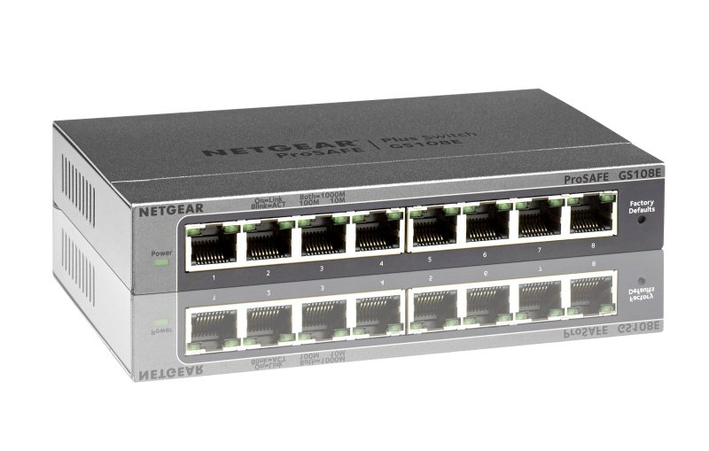 Compare prices for Netgear GS108e Prosafe Plus 8 Port Gigabit Ethernet Switch