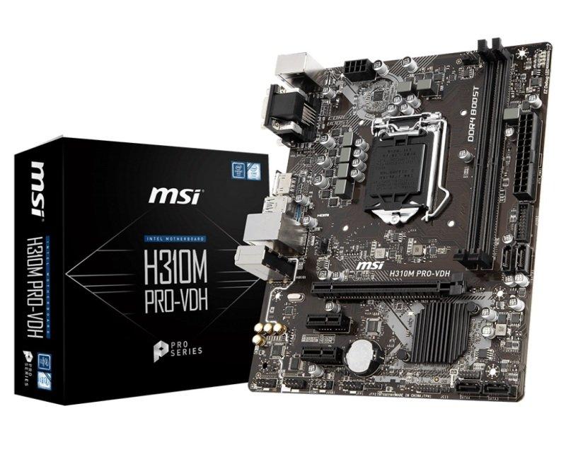MSI H310M PRO-VDH LGA 1151 DDR4 mATX Motherboard