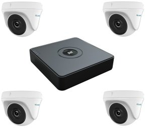 HiWatch 4 Channel CCTV System with 4 Turret Cameras