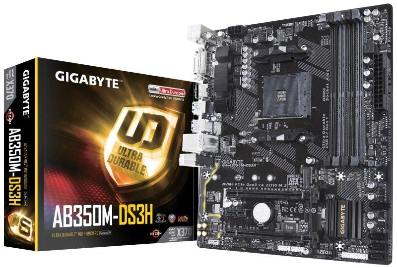 Gigabyte AB350M-DS3H AM4 Socket DDR4 mATX Motherboard