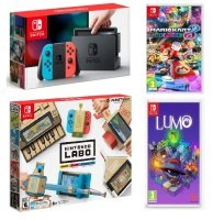 Nintendo Switch + Labo Variety Kit + Mario Kart 8 + Lumo Bundle