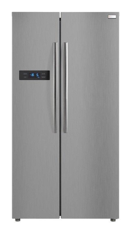 Russell Hobbs Stainless Steel 90cm Wide American Style Fridge Freezer