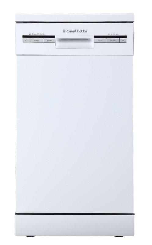 Russell Hobbs RHSLDW4B Black Slimline Freestanding Dishwasher - White