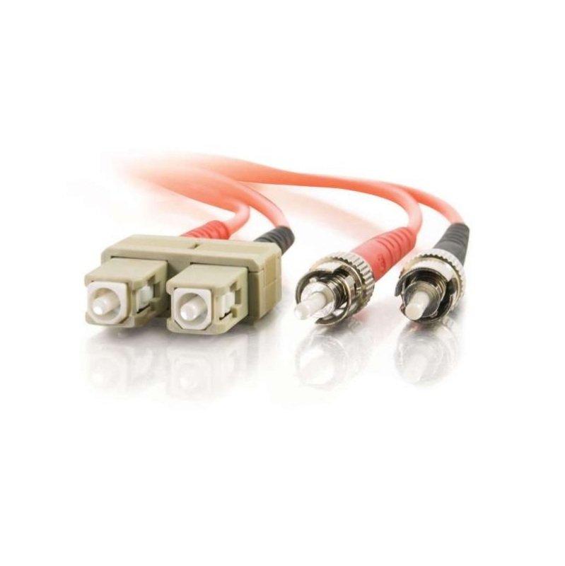 C2G 10M Multimode PVC Fibre Optic Cable Orange