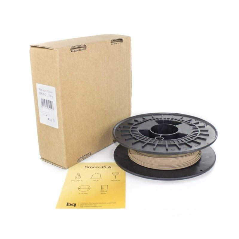 BQ PLA 1.75mm Bronze Filament 750g