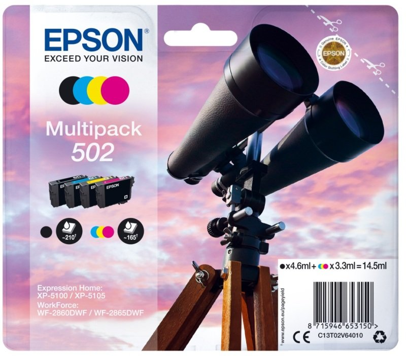 Epson 502 Multipack 4-Colours Ink Cartridges