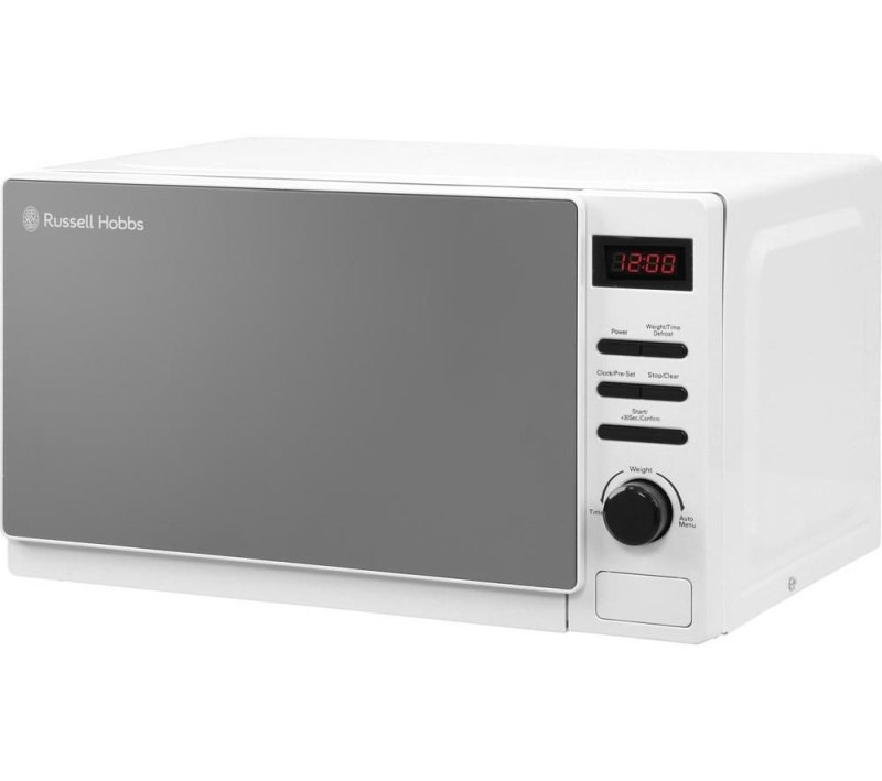 Russell Hobbs RHM2079A Aura 20 Litre White Digital Microwave with Black dial & buttons