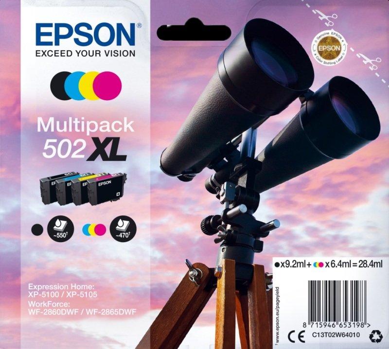 Epson 502XL Multipack 4-Colours Ink Cartridges