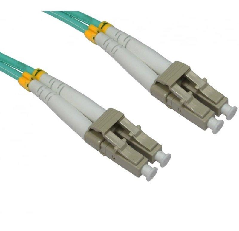 Cables Direct OM3 Fibre Optic Cable LC-LC Aqua