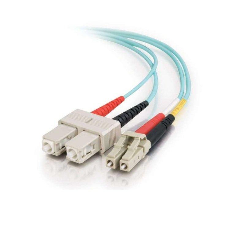C2G LC-SC 7M 10GB 50/125 OM3 Fibre Optic Cable Aqua