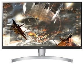 EXDISPLAY 27UK650-W 27 UHD 4K (3840x2160) IPS Display HDR 10 for Finest Detail and Dramatic Color Expression HDMI x2 (HDCP 2.2) DisplayPort x1 (HDCP 2.2) AMD FreeSync Technology