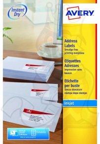 Avery Inkjet Addressing Labels 99.1 x 57mm 250 Pack