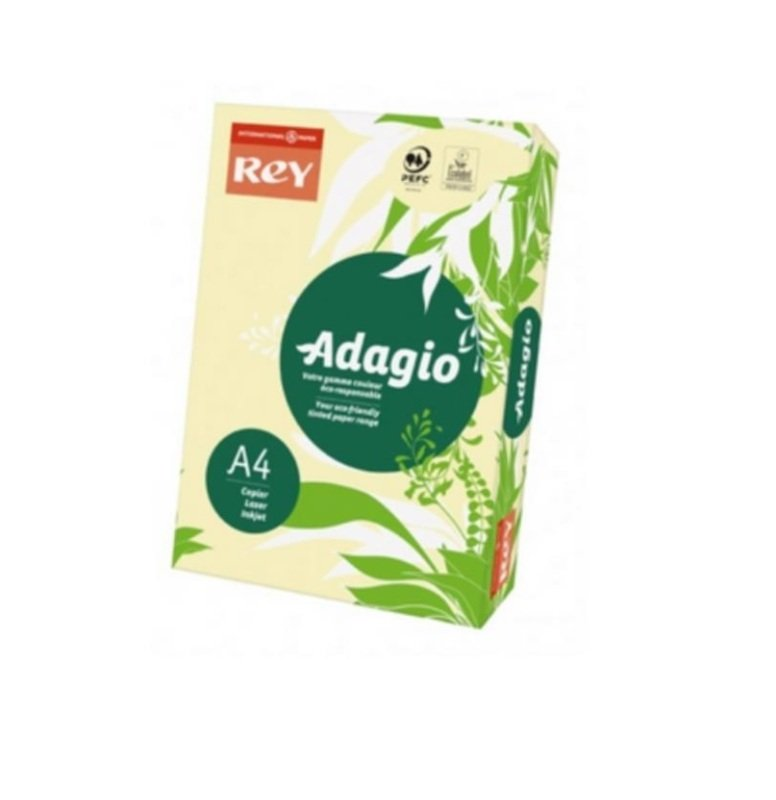 Image of Rey Adagio A4 160gsm Canary 250 Sheets