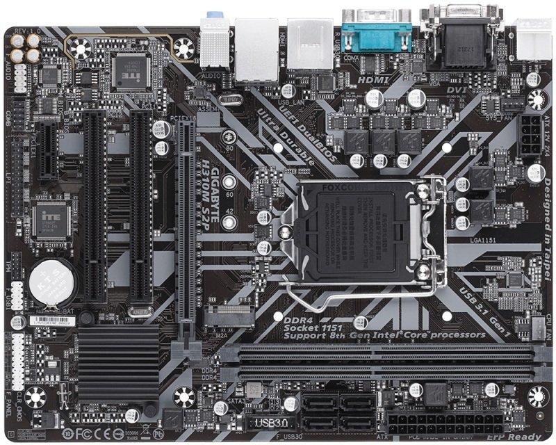 Gigabyte H310M S2P LGA1151 DDR4 mATX Motherboard | Ebuyer com