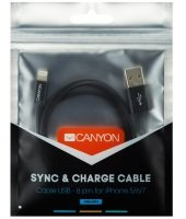 Canyon Lightning USB Cable for Apple Certified 1M Black